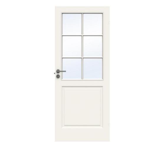 Swedoor dørblad Style SP6 glass  hvit