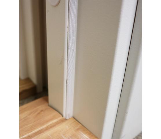 Hvit karm m/dempelist flat terskel