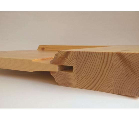 Scanflex Sindre innerdør med glass 2x3 ruter, ubehandlet