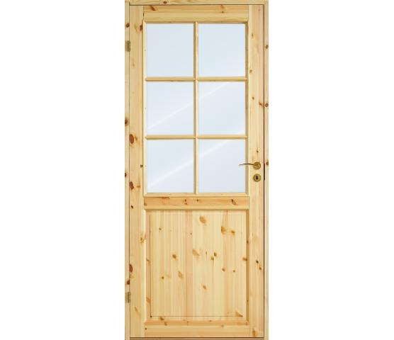 Scanflex dørblad Sindre ubehandlet glass 2x3 ru.