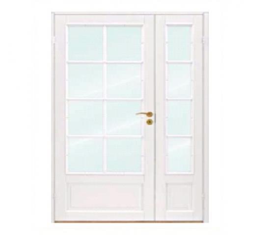 Scanflex dørblad Skjold 1,5 fløy hvit glass modul 12 x 21