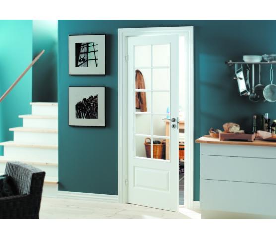 Swedoor innerdør Style SP10 hvit bomull med glass