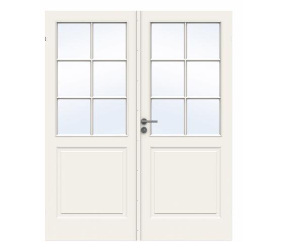 Swedoor innerdør Style SP6 + SP6 glass lett hvit 152 x 209